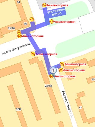 Схема выходов из метро